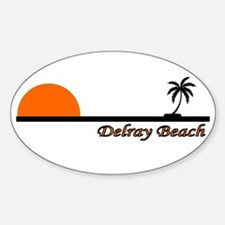 Delray Beach, Florida Oval Decal