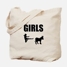Girls Kick Ass Tote Bag
