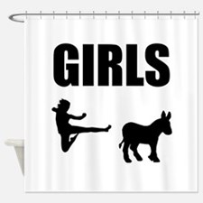 Girls Kick Ass Shower Curtain