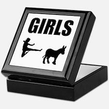 Girls Kick Ass Keepsake Box