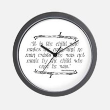 Child Makes the Man Wall Clock
