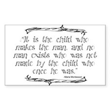 Child Makes the Man Decal