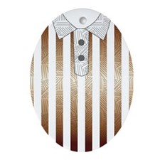 stips t-shirt Oval Ornament