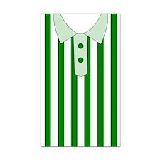 green strips t-shirt Rectangle Car Magnet