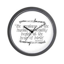 Greatness From Birth Wall Clock