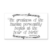 Greatness From Birth Rectangle Car Magnet