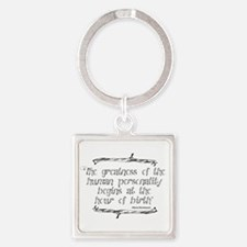 Greatness From Birth Square Keychain