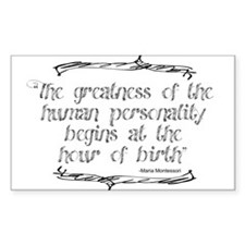 Greatness From Birth Decal
