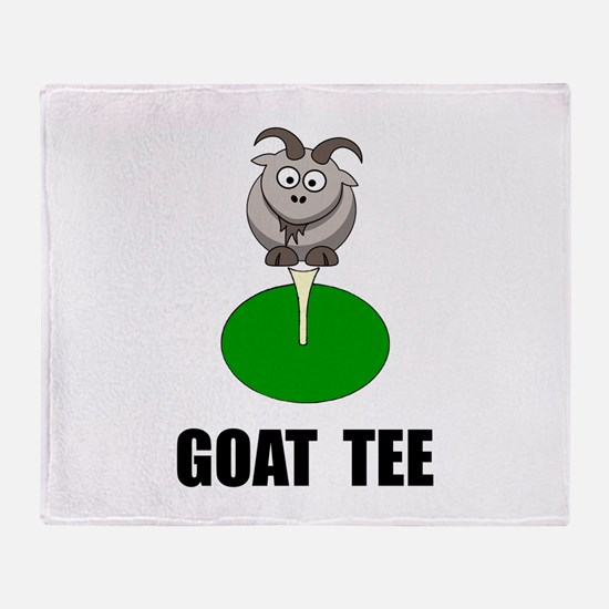 Goat Tee Throw Blanket