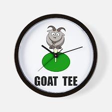 Goat Tee Wall Clock