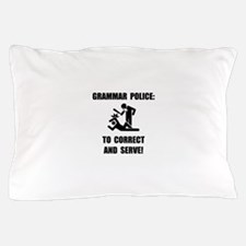 Grammar Police Pillow Case