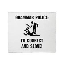 Grammar Police Throw Blanket