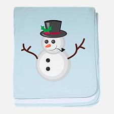Christmas Snowman baby blanket