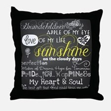 Grandchildren Inspirational Throw Pillow