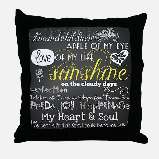 Grandchildren Inspirational Throw Pillow