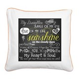 Daughter Square Canvas Pillows