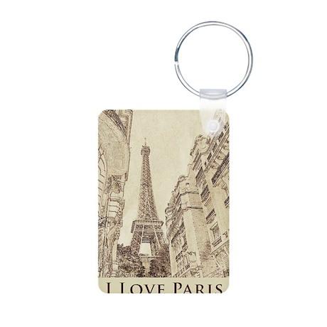 I love Paris Aluminum Photo Keychain