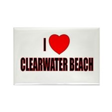 I Love Clearwater, Florida Rectangle Magnet