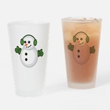 Christmas Snowman Drinking Glass