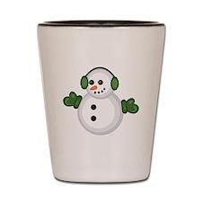 Christmas Snowman Shot Glass