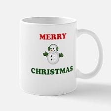 Merry Christmas Snowman Small Mug