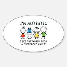 I'm Autistic Sticker (Oval)