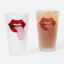Tongue Out Drinking Glass