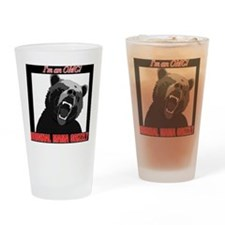 Cute Grizzly bear Drinking Glass