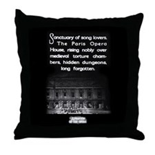 Paris Opera House Throw Pillow