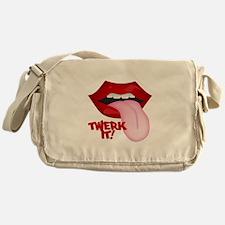 Twerk It Tongue Canvas Messenger Bag