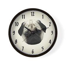Pug Head Wall Clock