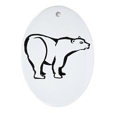 Polar Bear Oval Ornament
