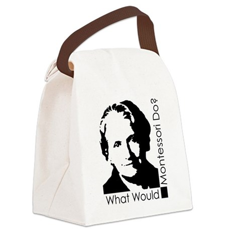 What Would Montessori Do? Canvas Lunch Bag