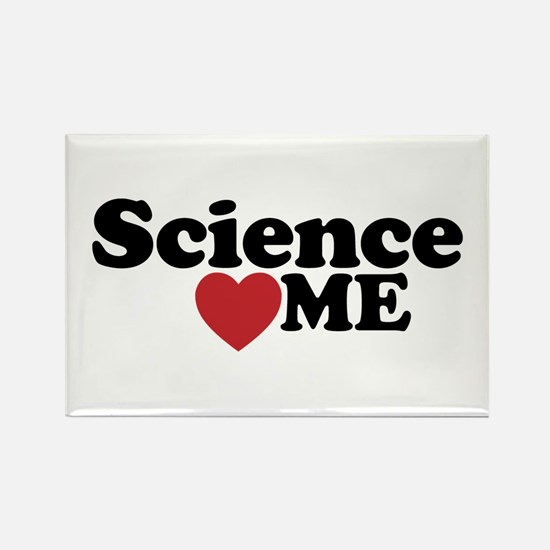 Science Loves Me Rectangle Magnet