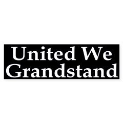 United We Grandstand Bumper Bumper Sticker