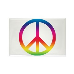 Peace Symbol Rectangle Magnet (100 pack)