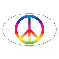 Peace Symbol Oval Decal