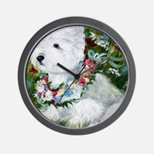 Spring Breezes Wall Clock