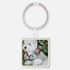 Spring Breezes Square Keychain