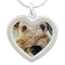 Paying Close Attention Silver Heart Necklace