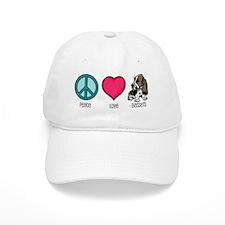 Peace Love & Bassets Baseball Cap