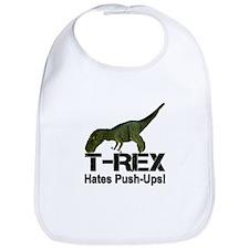T-Rex Hates Push-ups! Bib