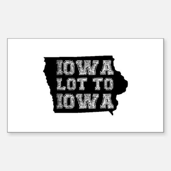 Iowa Lot To Iowa Decal