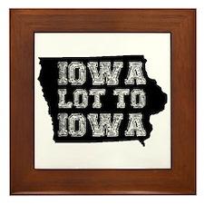 Iowa Lot To Iowa Framed Tile