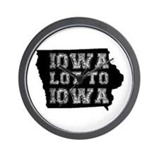 Iowa Lot To Iowa Wall Clock