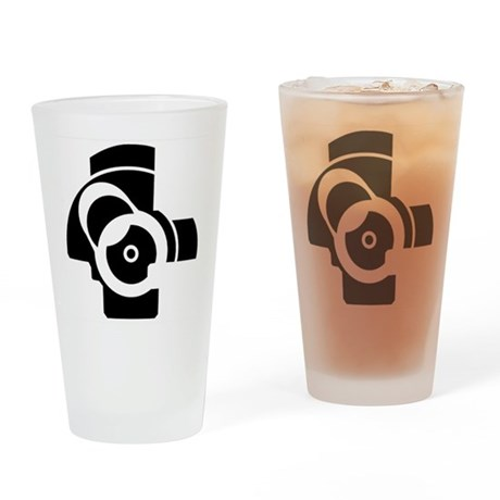 AK-47 Bolt Face Drinking Glass
