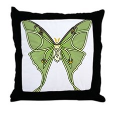Luna Moth Throw Pillow
