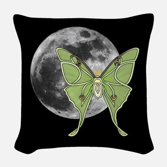 Luna Moth Woven Throw Pillow