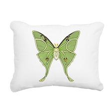 Luna Moth Rectangular Canvas Pillow