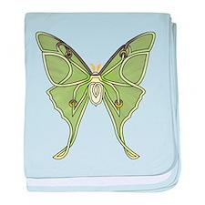 Luna Moth baby blanket